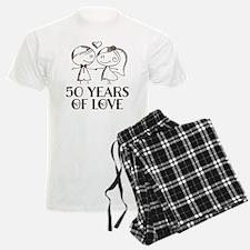 50th Anniversary chalk couple Pajamas