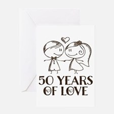 50th Anniversary chalk couple Greeting Card