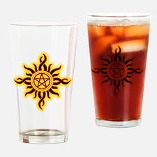 Sun Fire Pentacle Drinking Glass