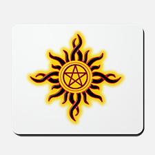Sun Fire Pentacle Mousepad