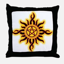 Sun Fire Pentacle Throw Pillow