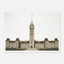The Peace Tower 5'x7'Area Rug