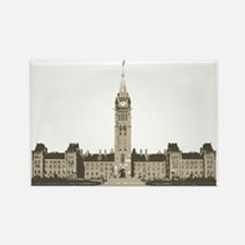 The Peace Tower Rectangle Magnet