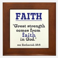 Faith Series-Zechariah 12:5 Framed Tile