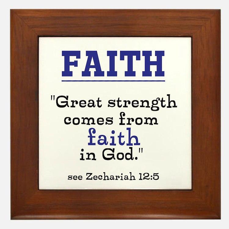 Faith Series-Zechariah 12:5 Framed Tile