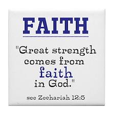 Faith Series-Zechariah 12:5 Tile Coaster