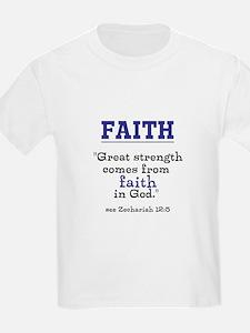 Faith Series-Zechariah 12:5 Kids T-Shirt
