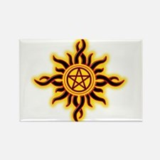 Sun Fire Pentacle Magnets