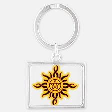 Sun Fire Pentacle Keychains