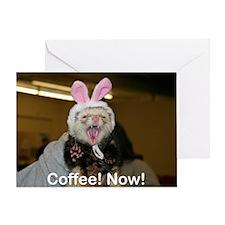 Angry bunny Greeting Card