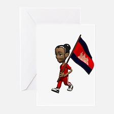 Cambodia Girl Greeting Cards (Pk of 10)