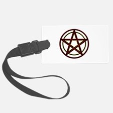 Neon Pentacle Luggage Tag