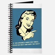 If you sprinkle when you tinkle (blue) Journal