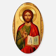 Christ The Teacher Sticker (Oval)