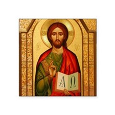 "Christ The Teacher Square Sticker 3"" x 3"""