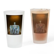 Lincoln statue Drinking Glass