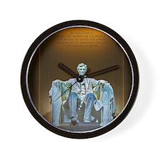 Lincoln statue Wall Clock