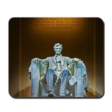 Lincoln statue Mousepad