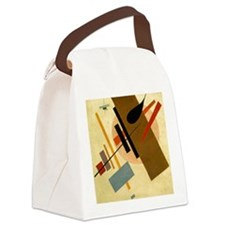 Funny Abstract art Canvas Lunch Bag