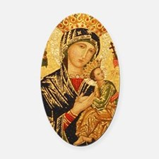 Our Lady of Perpetual Help Oval Car Magnet