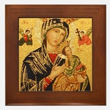 Our Lady of Perpetual Help Framed Tile