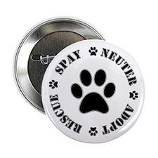 "Spay Neuter Rescue Adopt 2.25"" Button (10 Pac"
