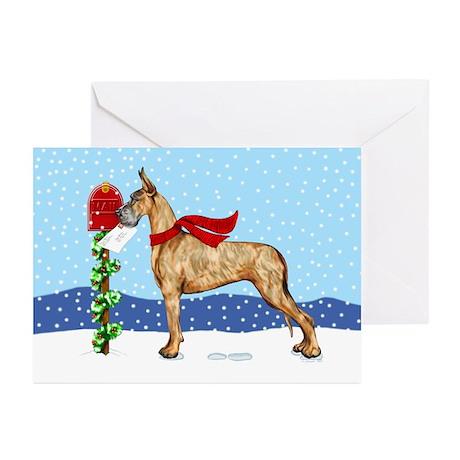 Great Dane Brindle Mail Greeting Cards (Pk of 10)
