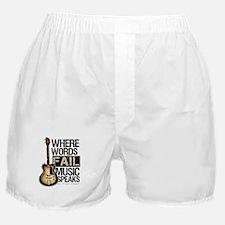Music Speaks Boxer Shorts