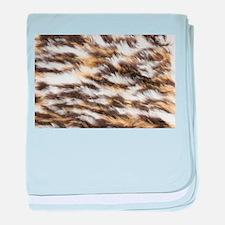 vintage leopard fur baby blanket