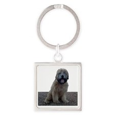 Cute Smile Square Keychain