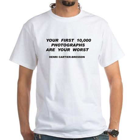 Your First 10,000 Photographs White T-Shirt