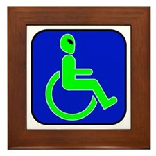 Handicapped Alien Framed Tile