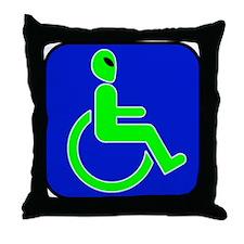 Handicapped Alien Throw Pillow