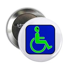 "Handicapped Alien 2.25"" Button (10 pack)"