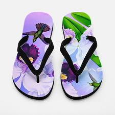 Dazzlin' Hummers, Cattleya Orchids Flip Flops