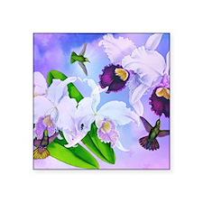 Dazzlin' Hummers, Cattleya Orchids Sticker