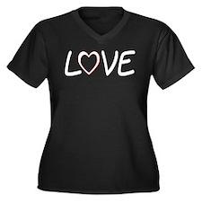 Cool God Women's Plus Size V-Neck Dark T-Shirt