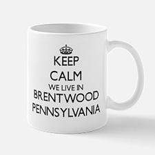 Keep calm we live in Brentwood Pennsylvania Mugs