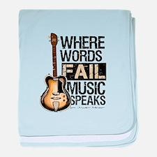 Music Speaks baby blanket