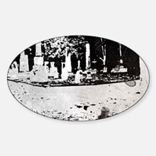 Spooky Cemetery Sticker (Oval)