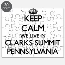 Keep calm we live in Clarks Summit Pennsylv Puzzle
