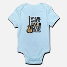 Music Speaks Body Suit