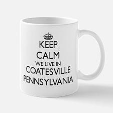 Keep calm we live in Coatesville Pennsylvania Mugs