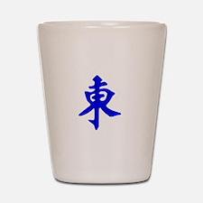 Mahjong Tile - East Wind Shot Glass