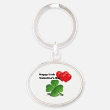 Irish Valentine's Day Oval Keychain