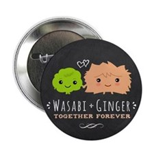 """Wasabi and Ginger 2.25"""" Button"""