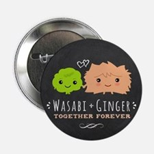 "Wasabi and Ginger 2.25"" Button"