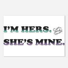 I'm Hers and She's Mine Postcards (Package of 8)