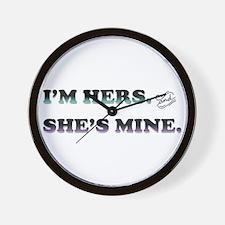 I'm Hers and She's Mine Wall Clock