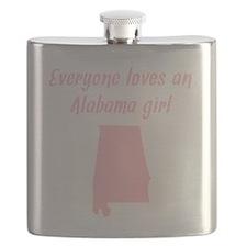 Everyone Loves An Alabama Girl Flask